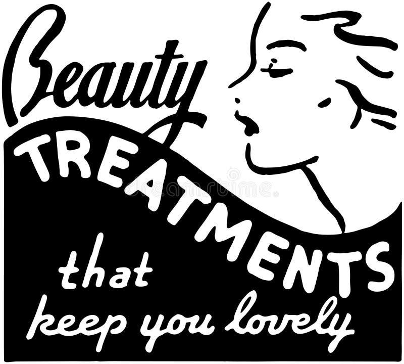 Beauty Treatments stock illustration