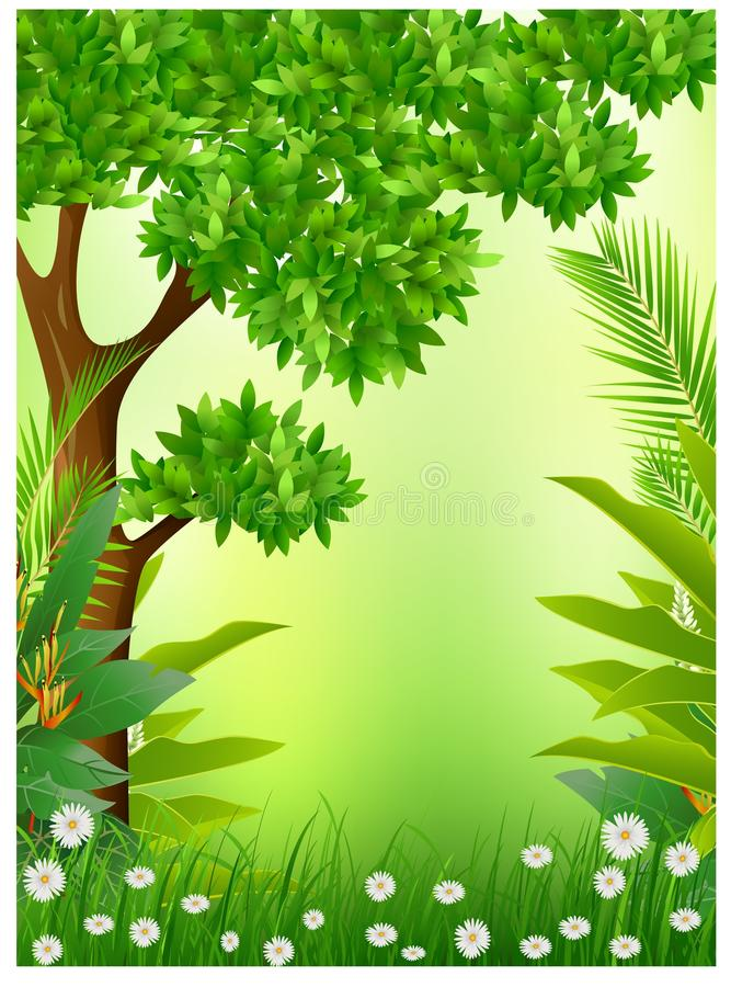 Download Beauty Tropical Forestbackground Stock Illustration - Image: 26990188