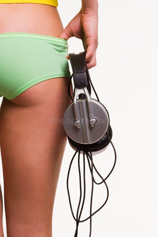 Download Beauty tune stock image. Image of joyful, back, girl, listen - 8685943