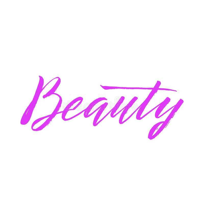 Beauty Typography Square Poster. Vector lettering. Calligraphy p royalty free illustration