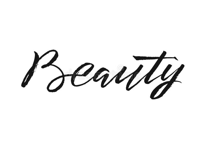 Beauty Typography Square Poster. Vector lettering. Calligraphy phrase for gift cards, scrapbooking, beauty blogs vector illustration