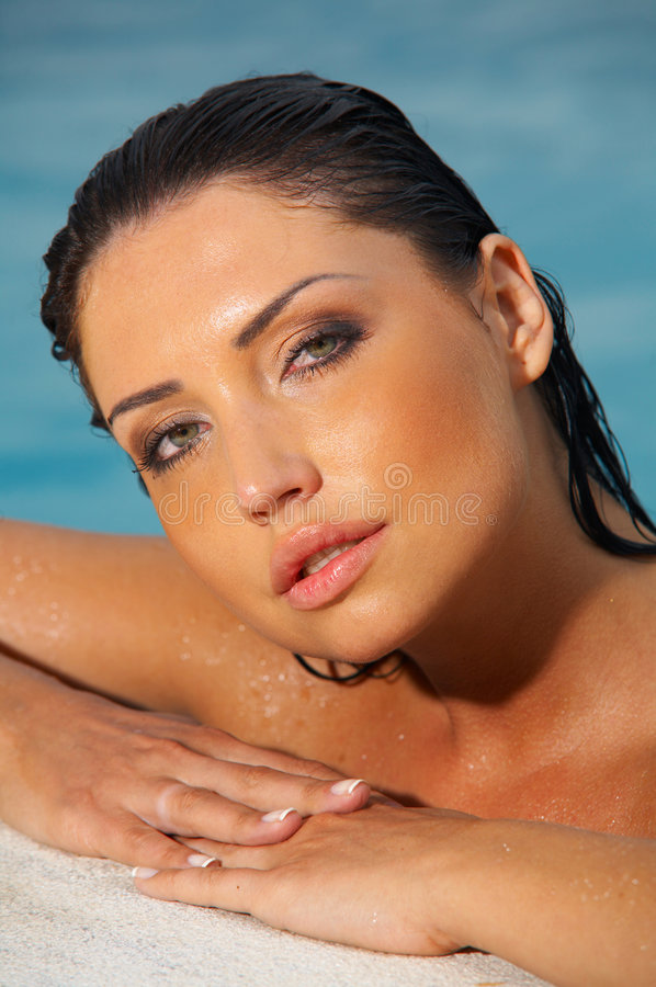 Beauty on Vacations stock image
