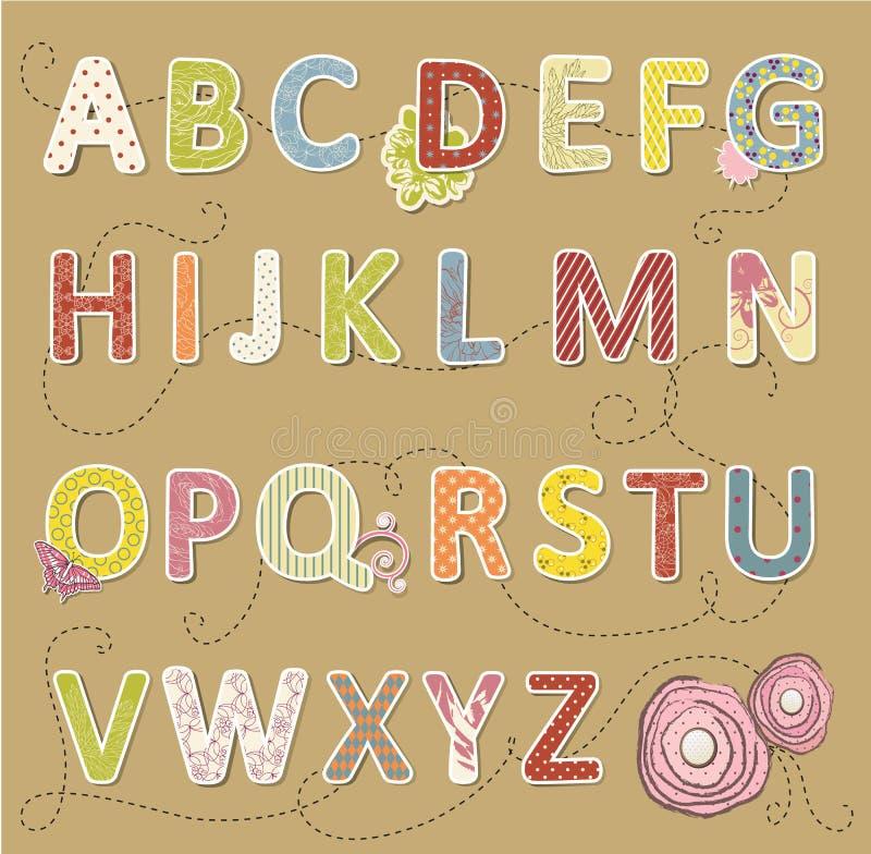Download Beauty vector craft font. stock vector. Image of scrapbook - 33115157