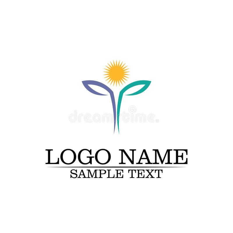 Beauty Vector flowers design logo Template icon stock illustration