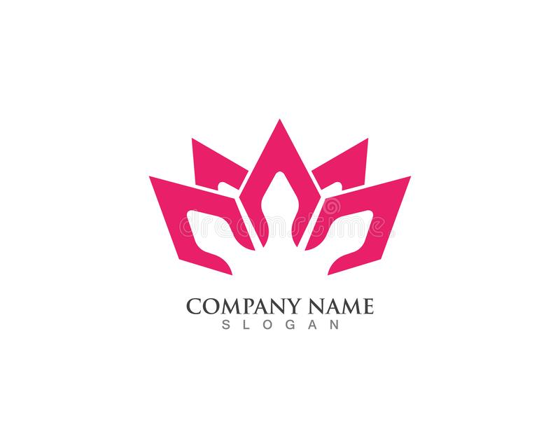 Beauty Vector and logo Lotus Flower Sign for Wellness, Spa and Y vector illustration