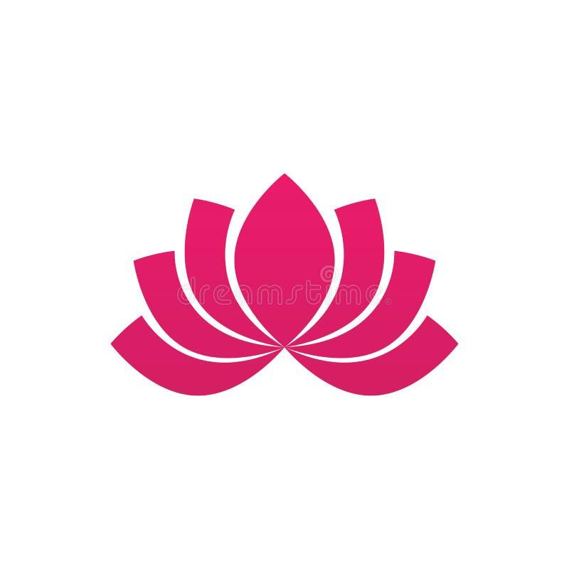 Beauty Vector lotus icon royalty free illustration