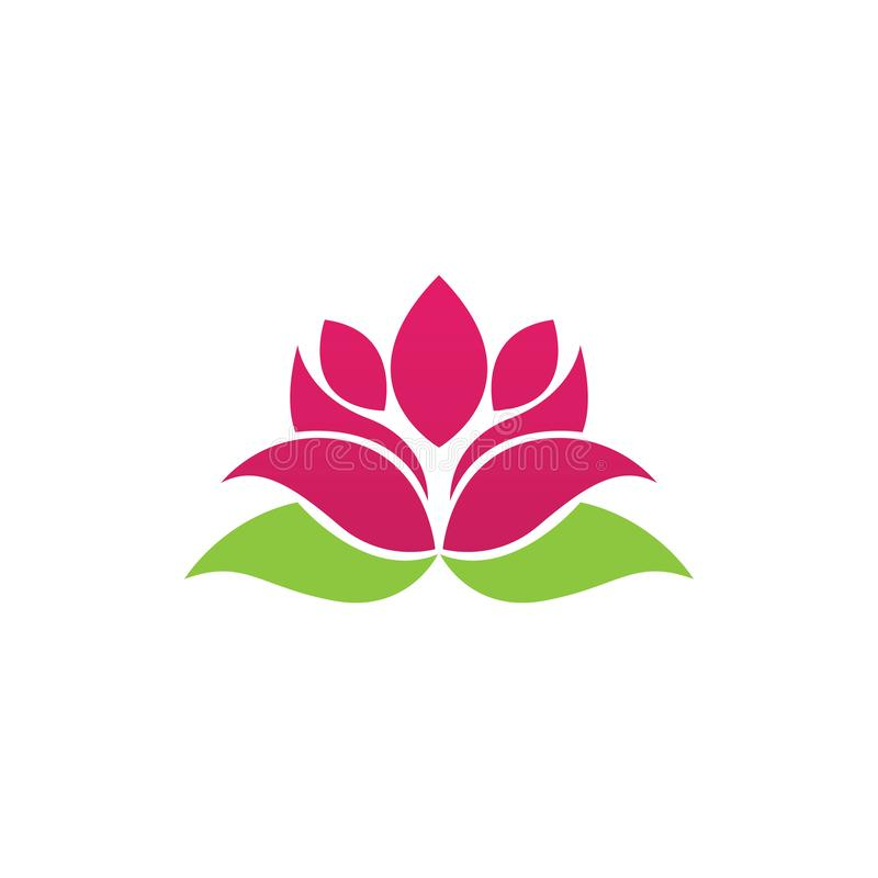 Beauty Vector lotus icon royalty free illustration