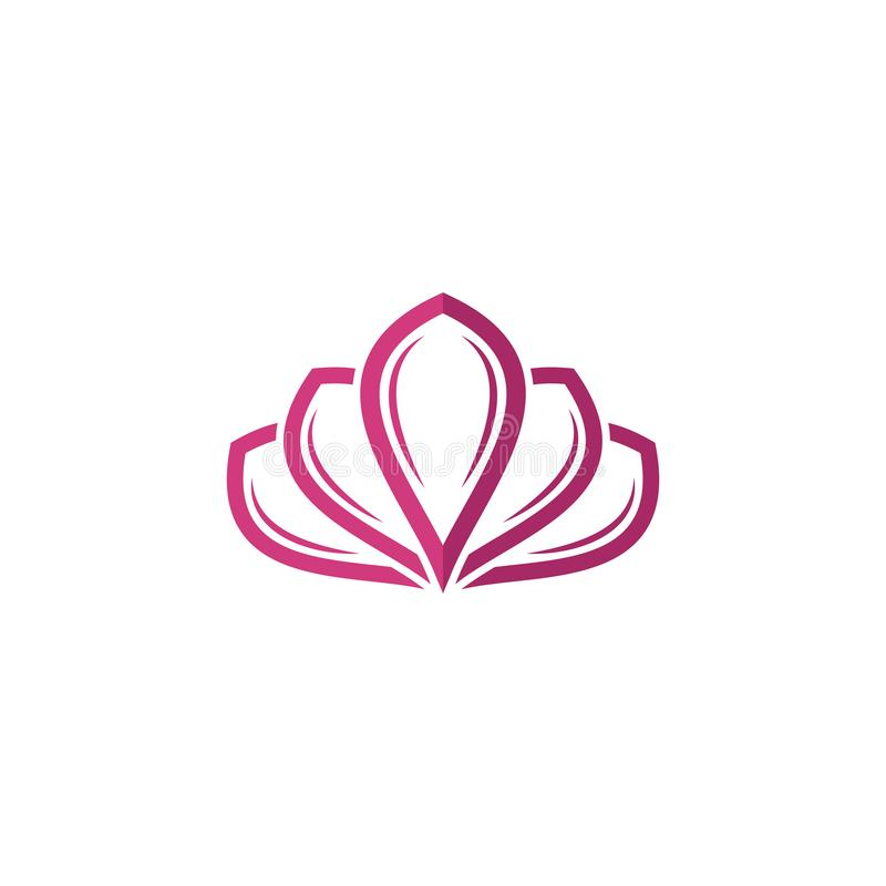 Beauty Vector Lotus flowers design logo Template stock illustration