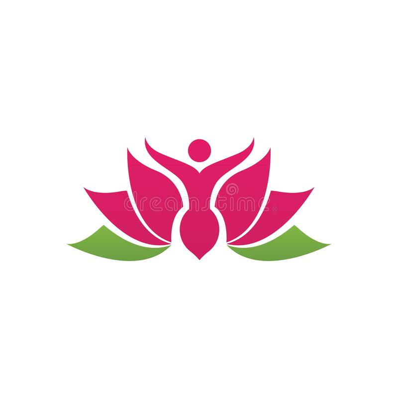 Beauty Vector lotus icon stock illustration