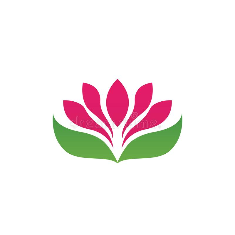 Beauty Vector lotus icon stock illustration
