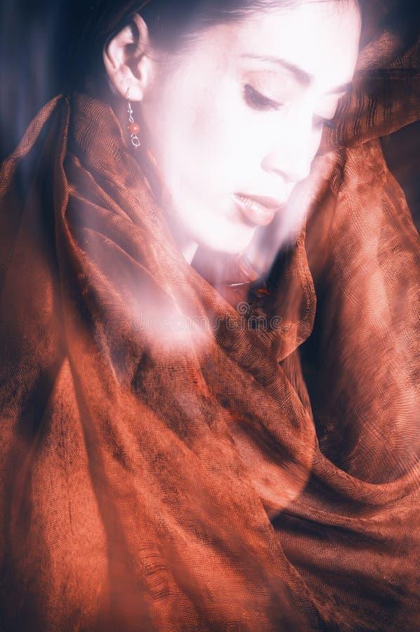 Beauty with veil stock photos