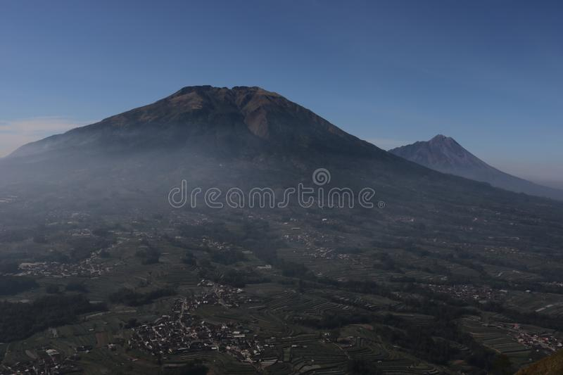 The scenery and panoramic beauty of the mountain royalty free stock photography