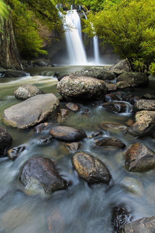 Beauty waterfall hew suwat waterfall in khoa yai national park. In thailand royalty free stock photography