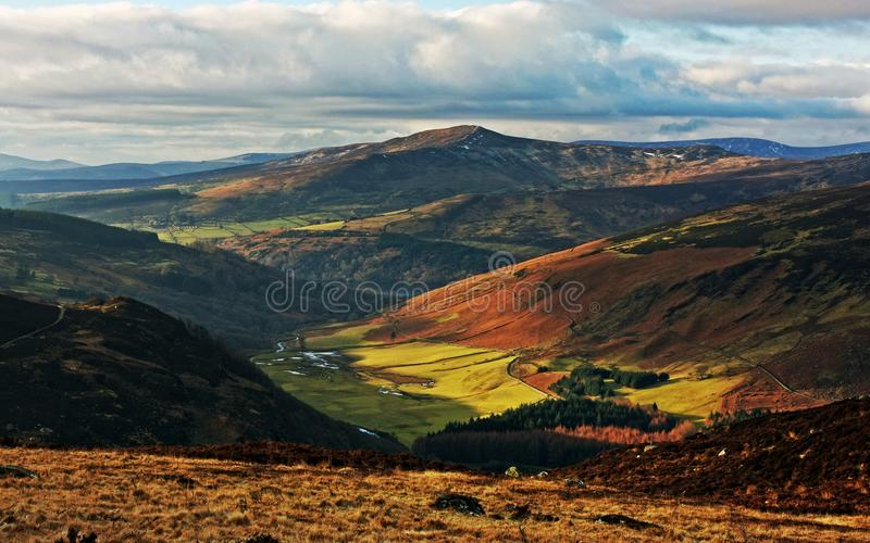 Beauty of Wicklow Mountains - Ireland. A breathtaking view in Sally Gap stock photography