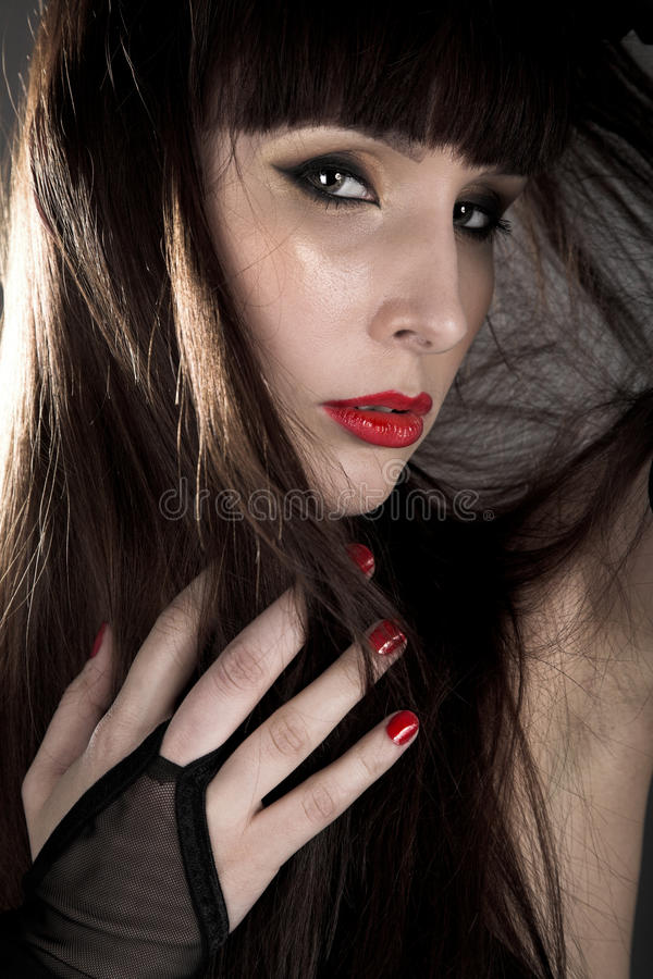 Download Beauty woman stock photo. Image of elegance, black, cool - 15602978