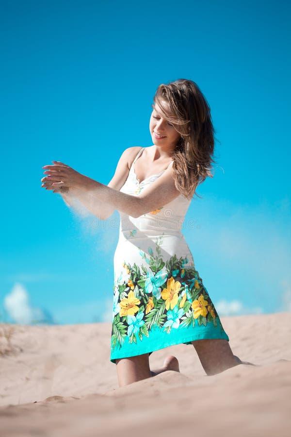 Beauty Woman On The Beach Stock Image