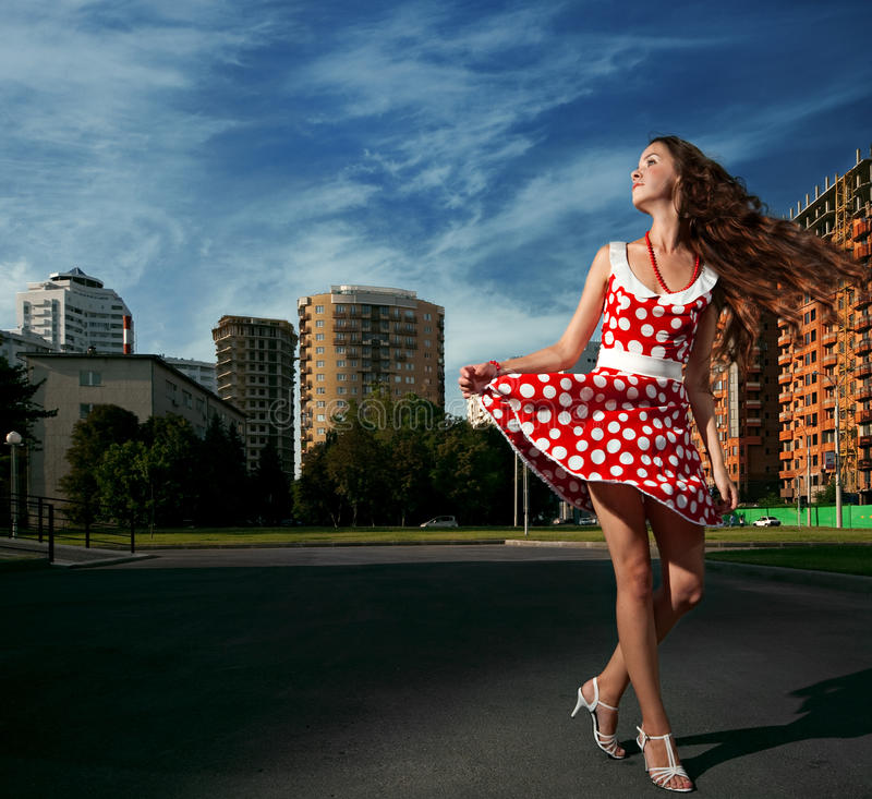Beauty Woman In The City Royalty Free Stock Photography