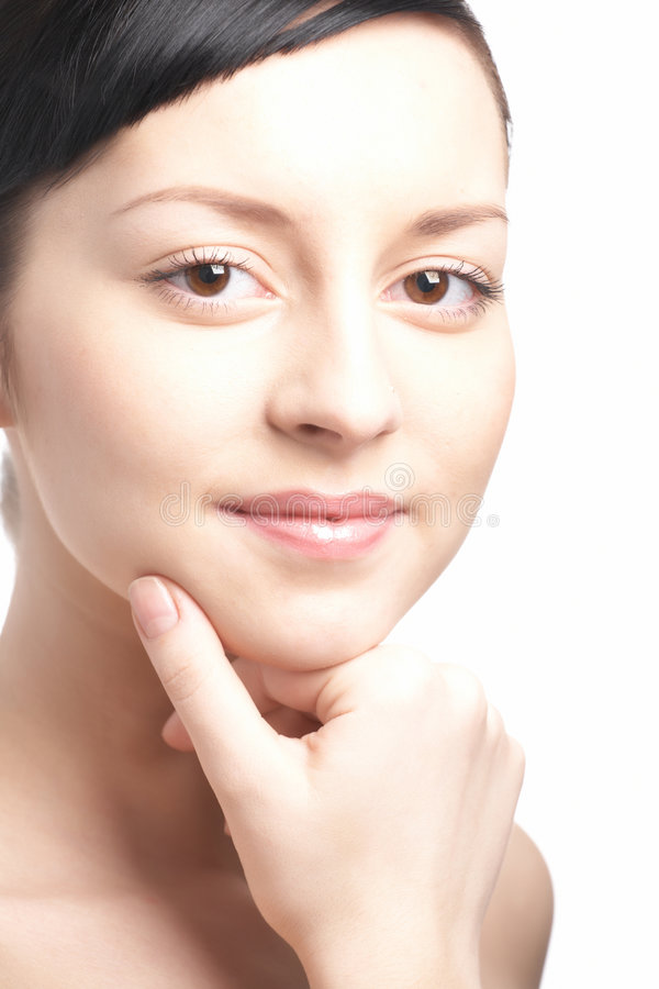 Beauty woman close-up face stock image