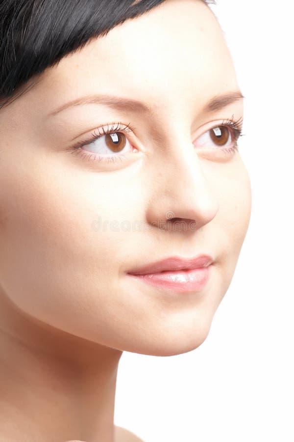 Beauty woman close-up face stock photos