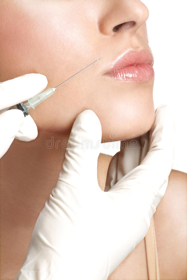 Free Beauty Woman Close Up Injecting Cosmetic Treatment Stock Images - 31526964