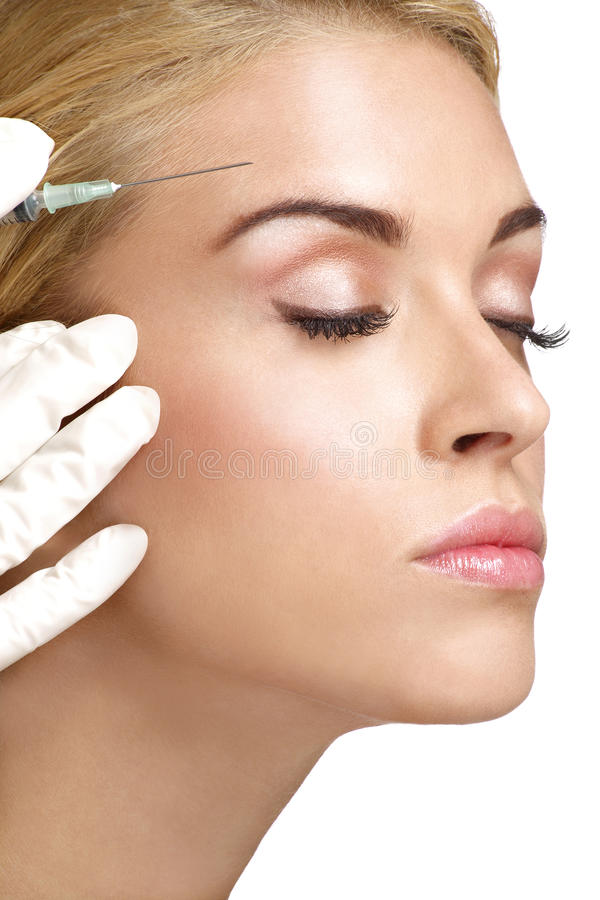 Free Beauty Woman Close Up Injecting Cosmetic Treatment Stock Photos - 31527343