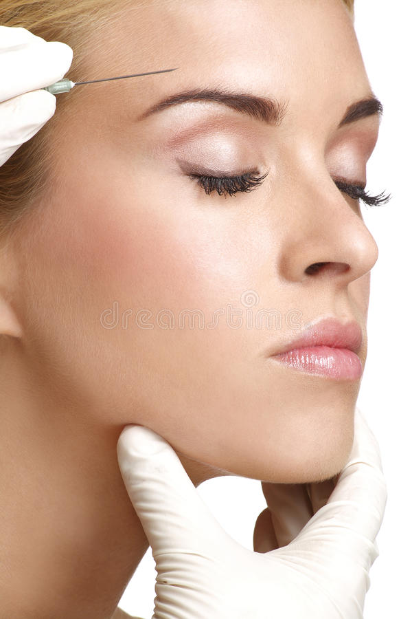 Free Beauty Woman Close Up Injecting Cosmetic Treatment Royalty Free Stock Photo - 31527485