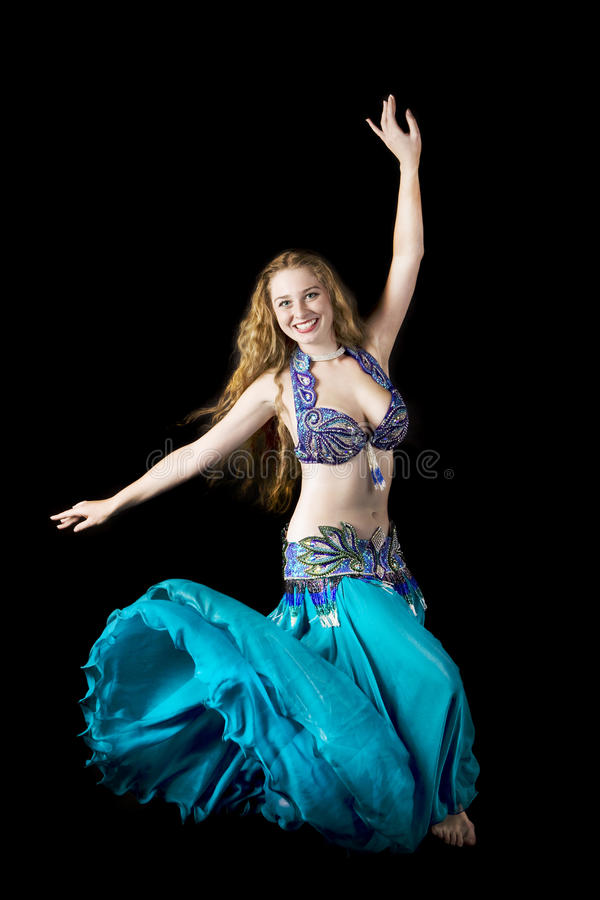 Beauty woman in dance royalty free stock photography