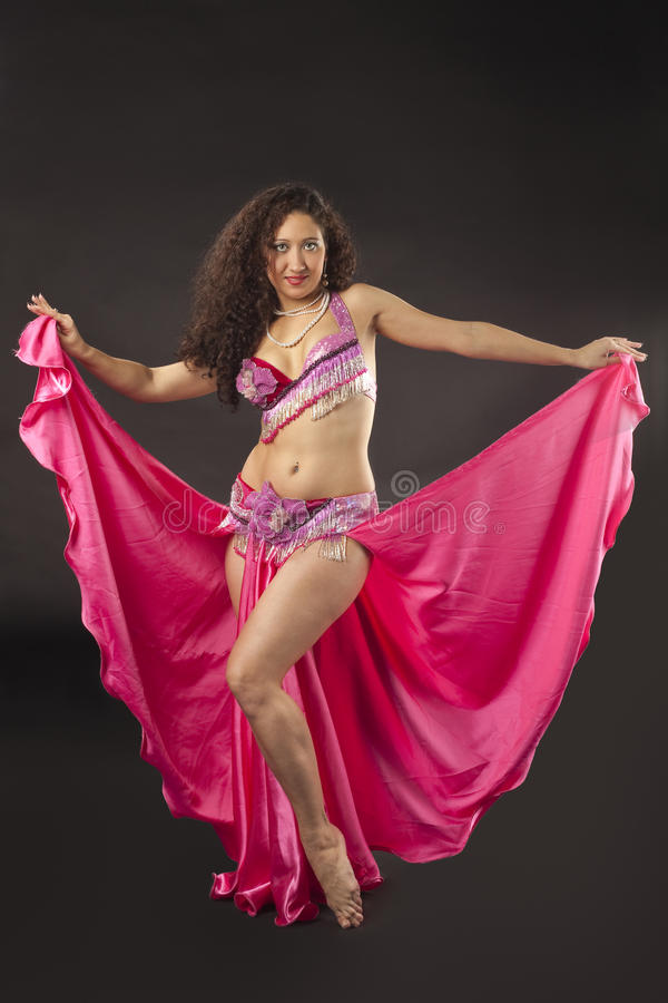 Download Beauty Woman Dance In Rose Arabian Costume Stock Photo - Image: 18589960