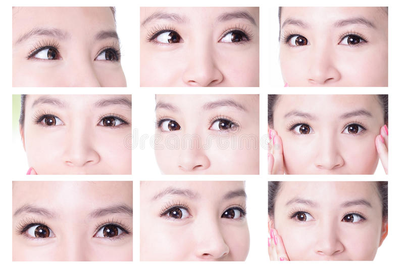 Beauty woman eyes royalty free stock photo