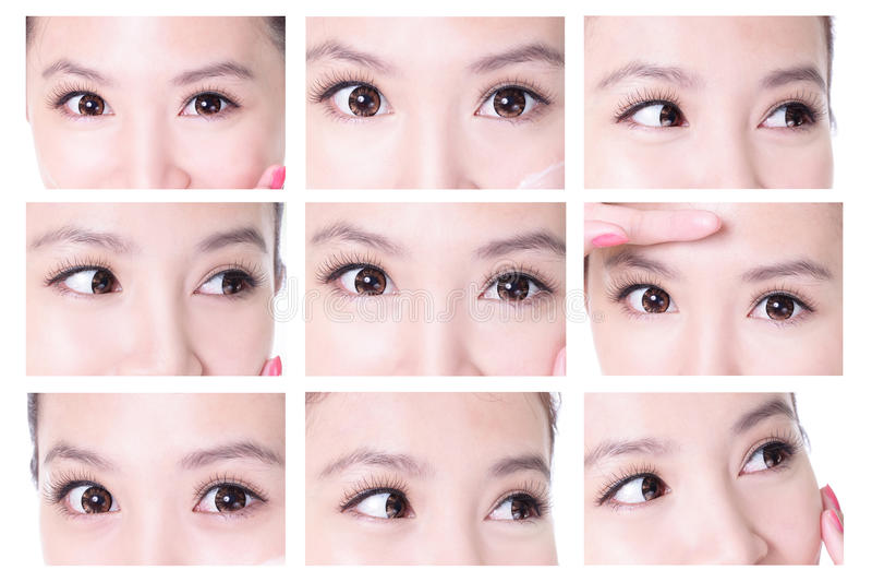 Beauty woman eyes royalty free stock photos