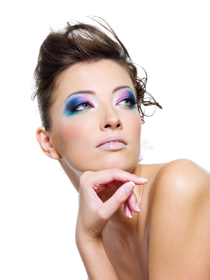 Beauty woman with glamour make-up royalty free stock photos
