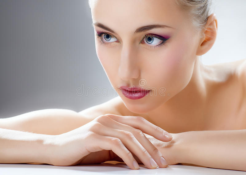 Beauty woman stock photos