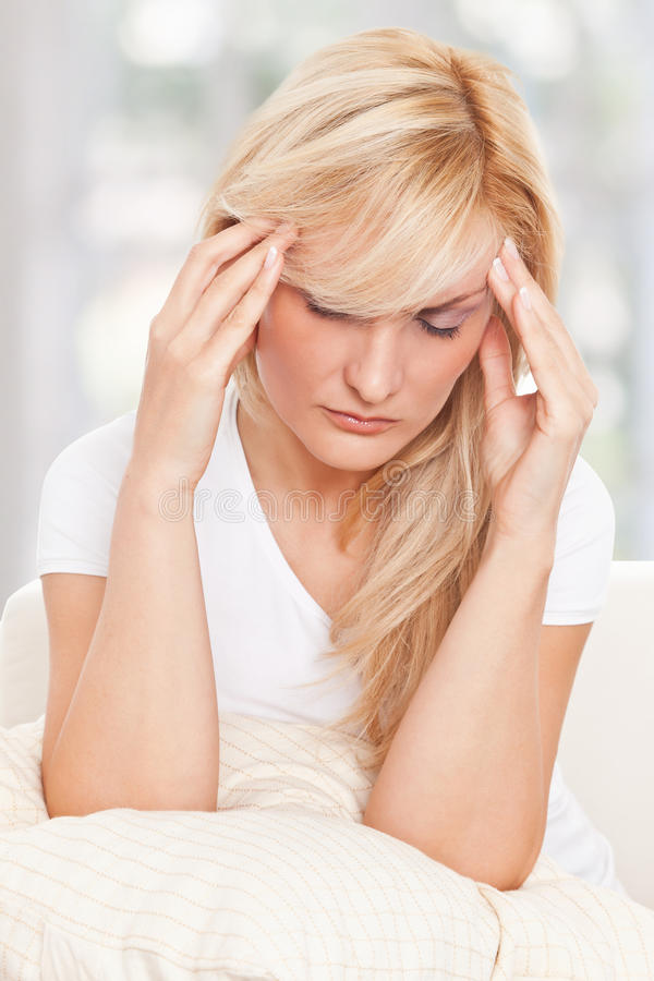 Download Beauty woman had headache stock photo. Image of head - 17301062