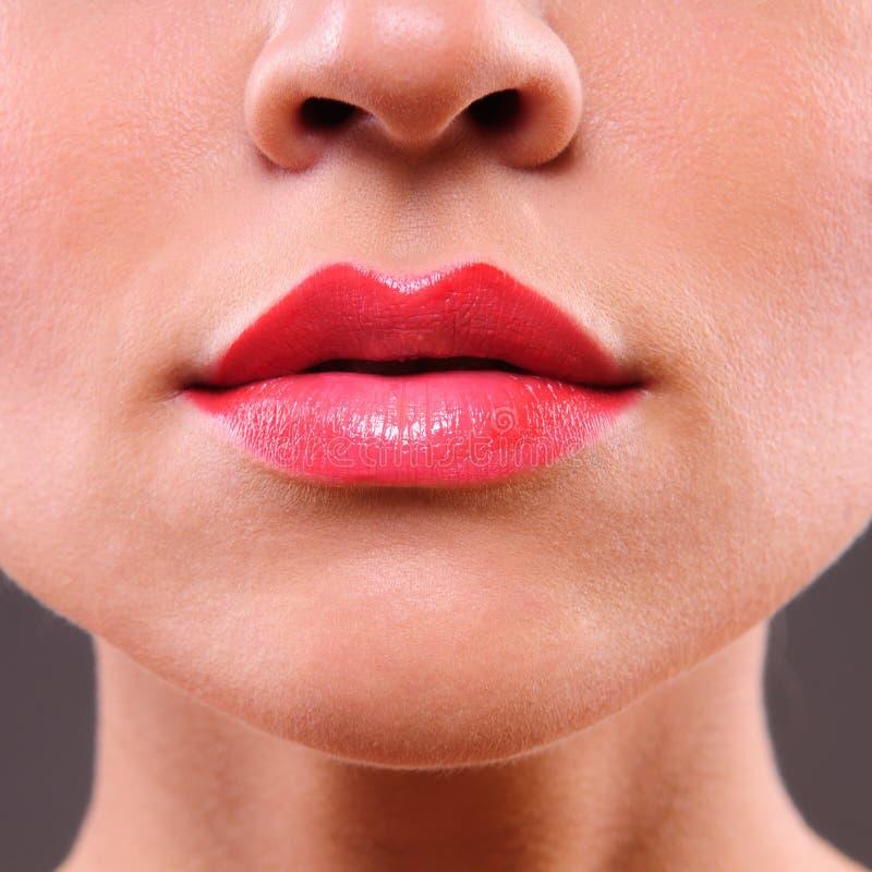 Beauty woman lips stock photography