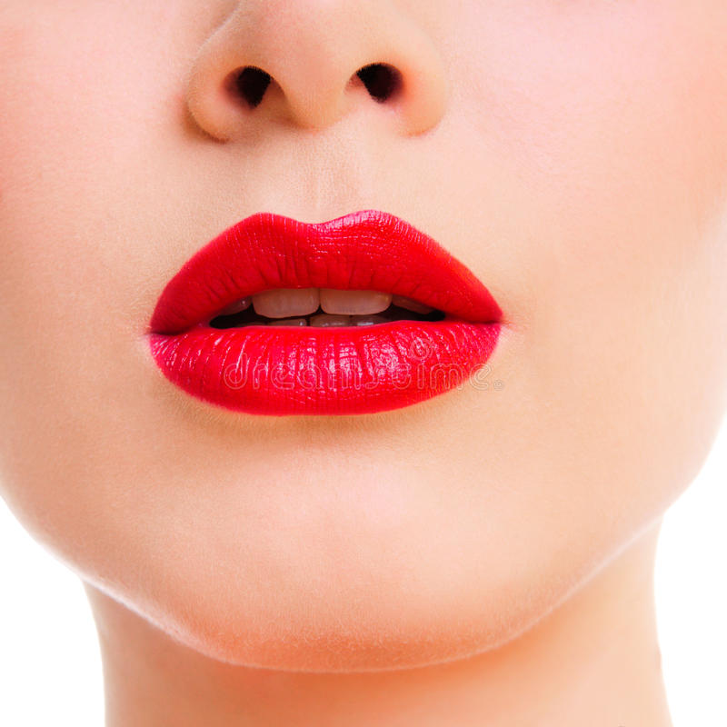 Beauty woman lips stock images