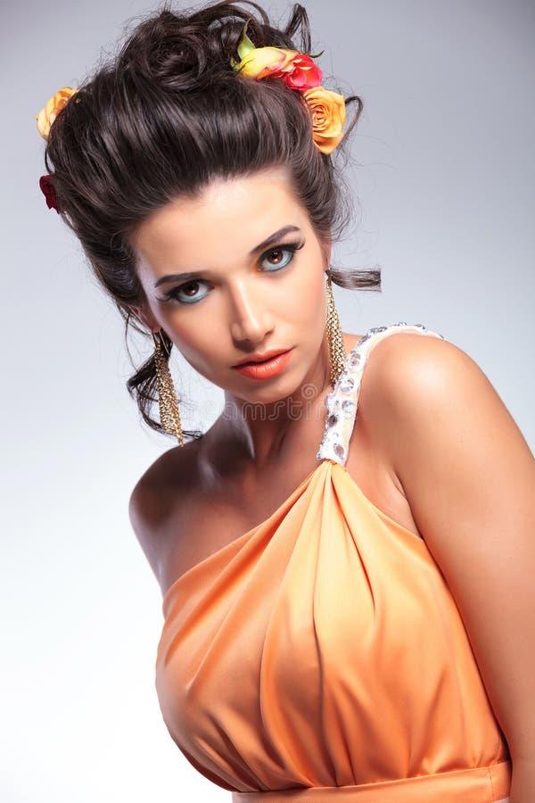Free Beauty Woman Looks Sensually Into The Camera Royalty Free Stock Image - 33658316