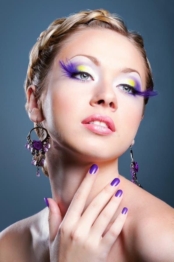 Beauty woman portrait stock photography