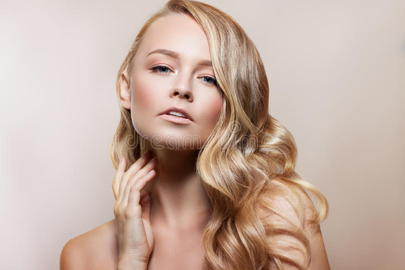 Beauty Woman Portrait. Beautiful Spa Girl Perfect Fresh Skin. Youth and Skin Care Concept. stock photography