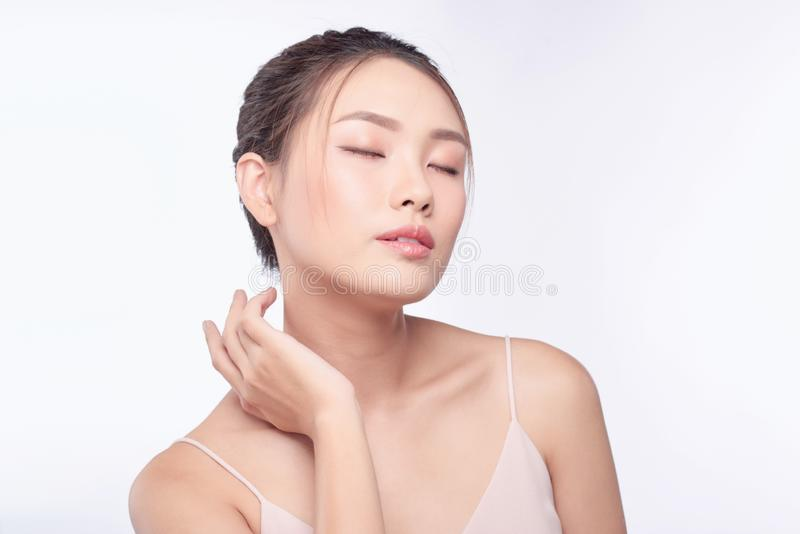 Beauty woman portrait. Skin and face care concept.  stock photo