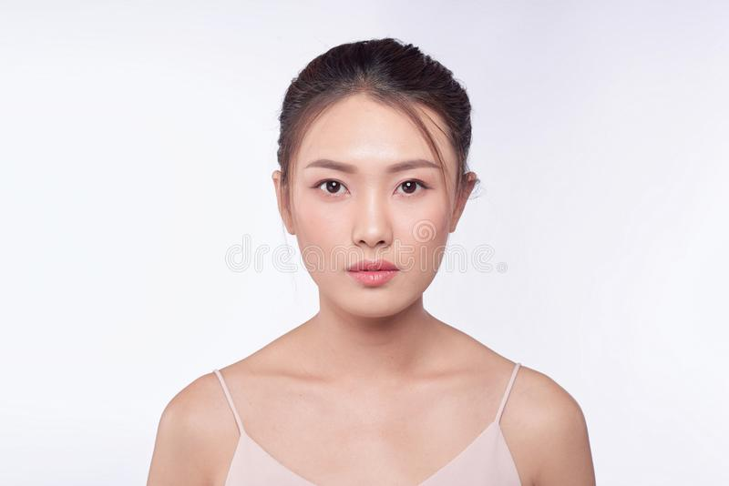 Beauty woman portrait. Skin and face care concept.  royalty free stock photos