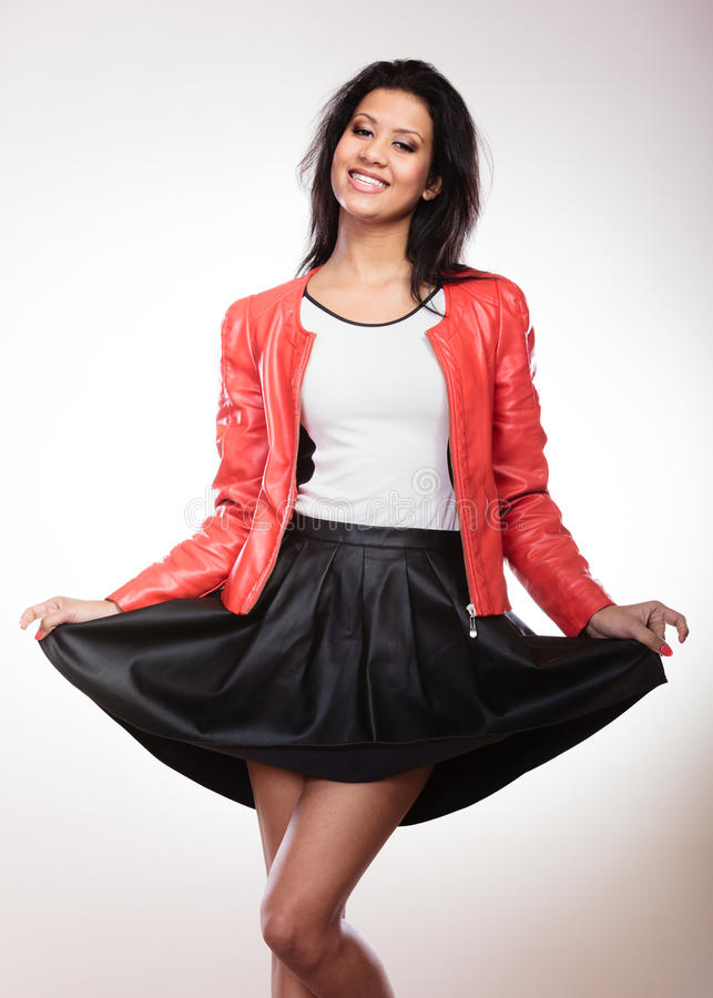 Beauty Woman In Red Jacket Stock Image Image Of Portrait 65742293