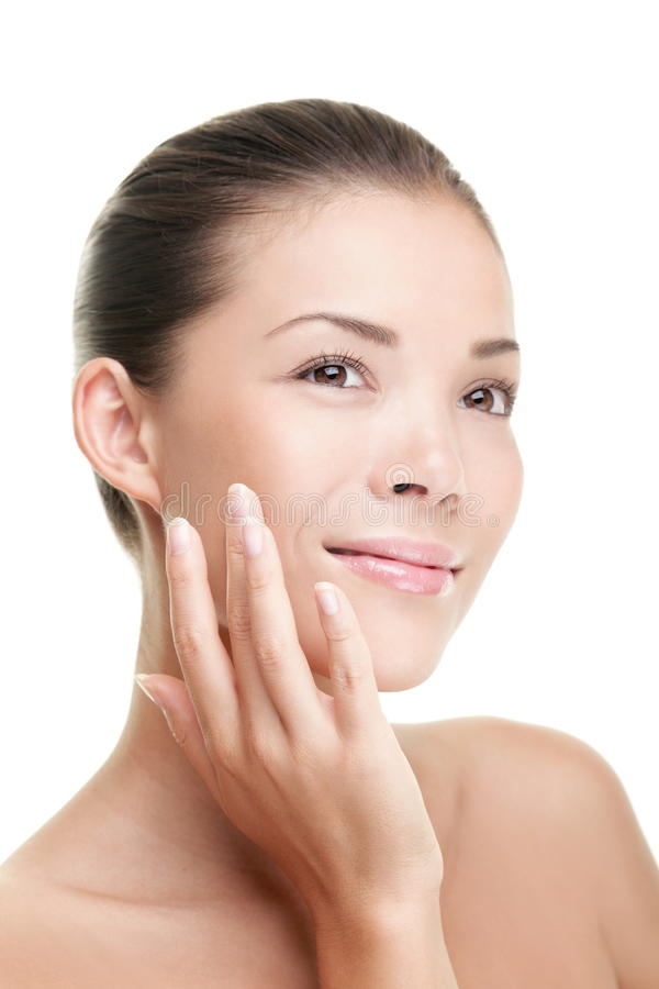Free Beauty Woman Skin Care Touching Face Stock Photos - 18279553