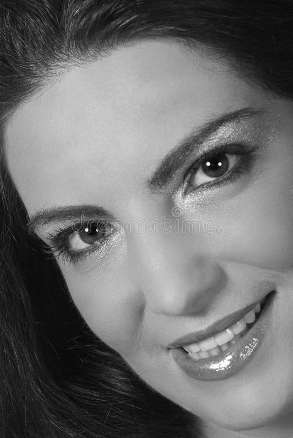 Download Beauty Woman Smile With White And Black Balance Stock Photo - Image: 10698014