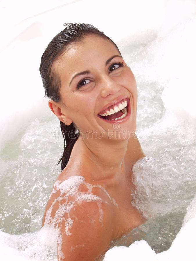 Beauty woman take a shower. stock photos