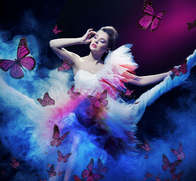 Download Beauty Woman Wearing  Dress Stock Image - Image: 17789925
