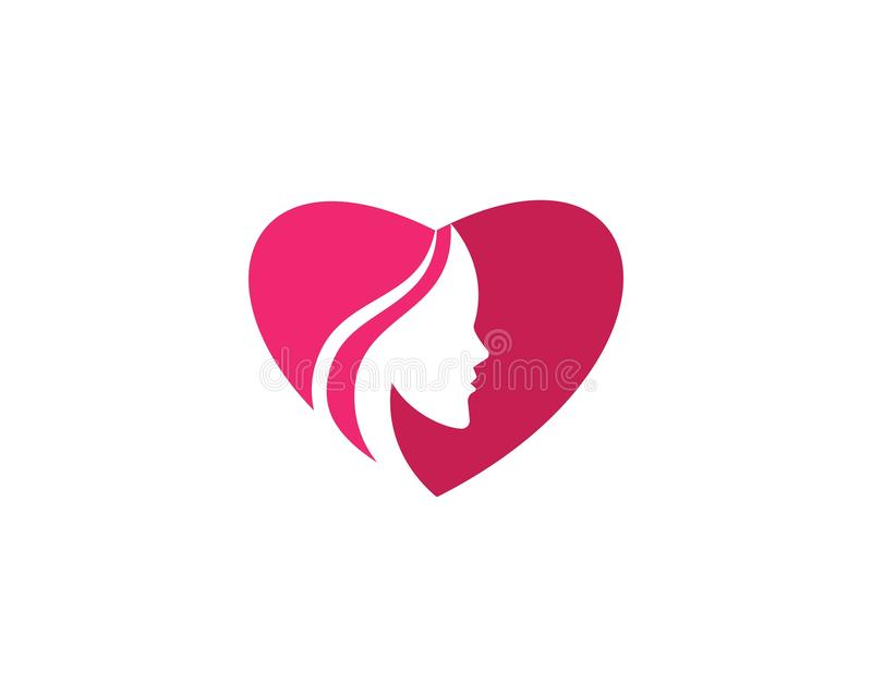Beauty Women face silhouette. Character Logo Template, beautiful, business, company, corporate, curve, design, emblem, female, girl, hair, healthy, icon, idea stock illustration