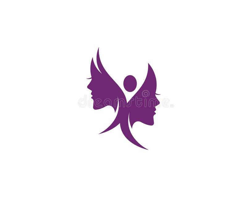 Beauty Women face silhouette. Character Logo Template, beautiful, business, company, corporate, curve, design, emblem, female, girl, hair, healthy, icon, idea royalty free illustration