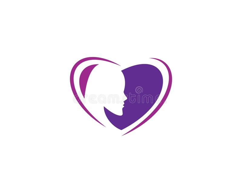 Beauty Women face silhouette. Character Logo Template, beautiful, business, company, corporate, curve, design, emblem, female, girl, hair, healthy, icon, idea vector illustration