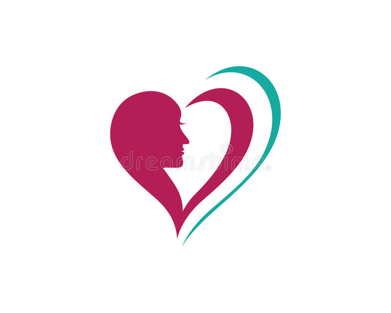 Beauty Women face silhouette. Character Logo Template vector illustration