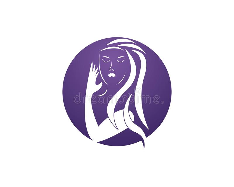 Beauty Women face silhouette character Logo Template.  vector illustration